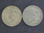 Lot: 2686 - 1922 & 1932 PEACE DOLLARS