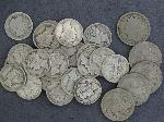 Lot: 2689 - 1916-S BARBER DIME, (23) MERCURY DIMES & BUFFALO NICKELS