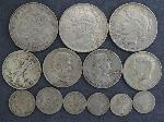 Lot: 2696 - PEACE & MORGAN DOLLARS & KENNEDY HALF DOLLAR