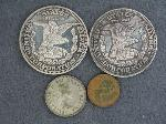 Lot: 2700 - (2) TROY 1 OZ. SILVER COINS & FOREIGN COINS