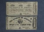 Lot: 2709 - COUNTY OF AUGUSTA 50 CENT & 25 CENT BILLS