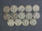 Lot: 2725 - (14) 1925-1930 STANDING LIBERTY QUARTERS