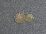 Lot: 2733 - 1875-CC SEATED LIBERTY DIME & 1852 THREE CENT SILVER