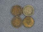 Lot: 2743 - (3) 1864 & (1) 1865 INDIAN HEAD CENTS