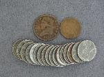 Lot: 2751 - 1909 INDIAN HEAD CENT & 1825 CORONET HALF CENT