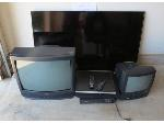 Lot: 4 - (3) TVs & VCR