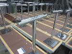 Lot: 25 - (2) Tables w/ Metal Legs