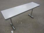 Lot: 30 - (2) Tables w/ Metal Legs
