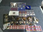 Lot: 3411 - PROOF SETS, BARBER DIME, FOREIGN COINS & STAMPS