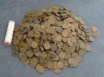 Lot: 3459 - APPROX. (945) WHEAT PENNIES