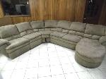Lot: A5664 - Benchcraft Suede Tan Sectional Sofa