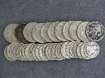 Lot: 2790 - (25) 1920-1945 MERCURY DIMES & (11) 1920-1937 BUFFALO NICKELS