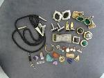 Lot: 2798 - EARRINGS, CUFF LINKS, PENDANTS & TIE TACS