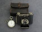 Lot: 2800 - POCKET WATCH & CERTO DRESDEN SEARS 1943 CAMERA