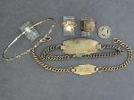 Lot: 2801 - STERLING ID BRACELETS & 14K RING