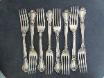 Lot: 2810 - (8) GORHAM CHANTILLY STERLING LUNCHEON FORKS