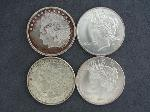 Lot: 2822 - (4) ASSORTED TROY OZ .999 FINE SILVER COINS