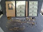 Lot: 2830 - CHAINS, EARRINGS & (2) 10K CHAINS