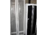 Lot: 24-26 - (2) Computer Cabinets, (3) File Cabinets & Desk Pieces
