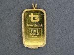 Lot: 2854 - JOHNSON MATTHEY 20G GOLD PENDANT