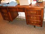 Lot: 4 - Wood Office Desk, Wood Table
