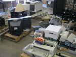 Lot: 05 - Projector Screen, Faxes, Cabinet, Typewriter