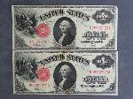 Lot: 2917 - (2) 1917 LARGE LEGAL TENDER $1 NOTES