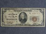 Lot: 2920 - 1929 BROWN SEAL $20 BILL