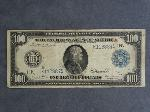 Lot: 2921 - 1914 BLUE SEAL LARGE $100 NOTE