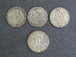 Lot: 2934 - (3) MORGAN DOLLARS 1879-1903 & 1987 WALKING LIBERTY