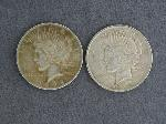 Lot: 2936 - (2) PEACE DOLLARS 1922-1923