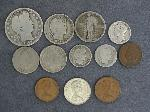 Lot: 2937 - BARBER HALF, QUARTER, DIMES & FOREIGN COINS