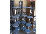 Lot: 5290 - (3) LUNCH ROOM TABLES