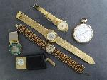 Lot: 2996 - WRIST & POCKET WATCHES & MONEY CLIP