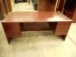 Lot: 1464 - Dark Wood Desk