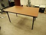 Lot: 1480 - Metal-Legged Table