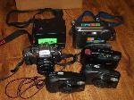 Lot: 125&126.TYLER - (6) DIGITAL CAMERAS &PANASONIC VCR