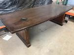 Lot: 19 - Conference Table With Oval-Shaped Top