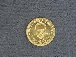 Lot: 3098 - 1984 JOHN STEINBECK 1/2 OZ. GOLD MEDALLION