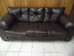 Lot: A5854 - Ashley Furniture Brown Leather Sofa