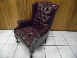 Lot: A5859 - Executive Cherry Leather Office Chair