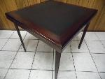 Lot: A5871 - Cosco Cherry Wood Leather Top Table