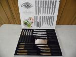 Lot: A5883 - Like New Diamond Cut 19 Piece Knife Set