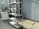 Lot: 18-041 - Stainless Steel Rolling Rack