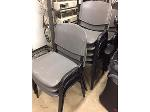 Lot: PD1 - (22) Office Chairs, (11) Stacking Chairs, Storage & Desktop