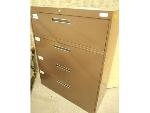 Lot: 1645 - Brown Five Drawer Filing Cabinet