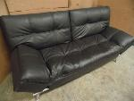Lot: A5906 - Ravenna Pillow Top Leather Euro Lounger Sofa