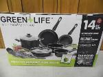 Lot: A5910 - Green Life 14pc Ceramic Cookware Set