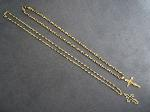 Lot: 3440 - 14K NECKLACE WITH 10K PENDANT