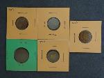 Lot: 3481 - 1865 TWO CENT & (3) 1907 INDIAN HEAD PENNIES